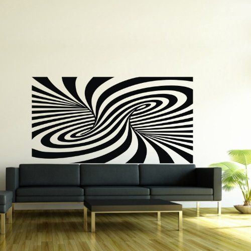 Olivia Tornado Shaped Zebra Print Wall Decals Swirl Abstract Art Stickers  Vinyl Removable Home Decor For Part 46