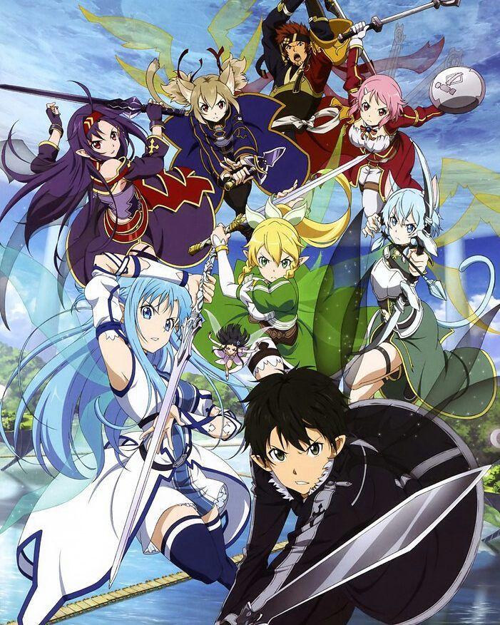 .  [ Sword Art Online ll ] -  New Images of Sword Art Online  - Pic by: @_animechannel_ - Character: Kirito Asuna Leafa Sinon Yuuki Lizbeth Silica and Klein . Comment and like  .  Tag your friends!! ___________________________________________ Tags:#sao #swordartonline #swordartonline2 #sinonasada  #kazutokirigaya #asunayuuki #yuukikonno #kiritoxasuna #animepic #animeuniverse #otakugirl #cosplay #animecouple #animecosplay #hentaigirl #ecchigirl #animeboy #animegirl #animeboys #animegirls…