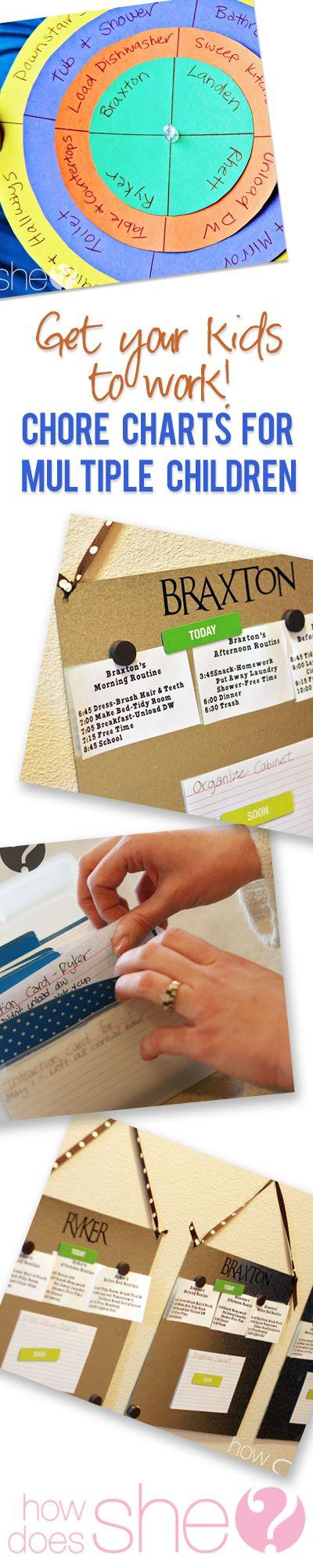 chore charts for multiple children
