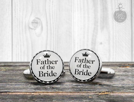 Wedding Cufflinks  Father of the Bride   by GothChicAccessories