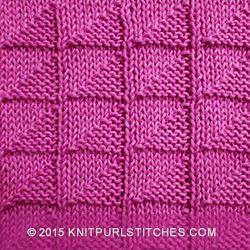 Broken Check Stitch | KnitPurlStitches.com