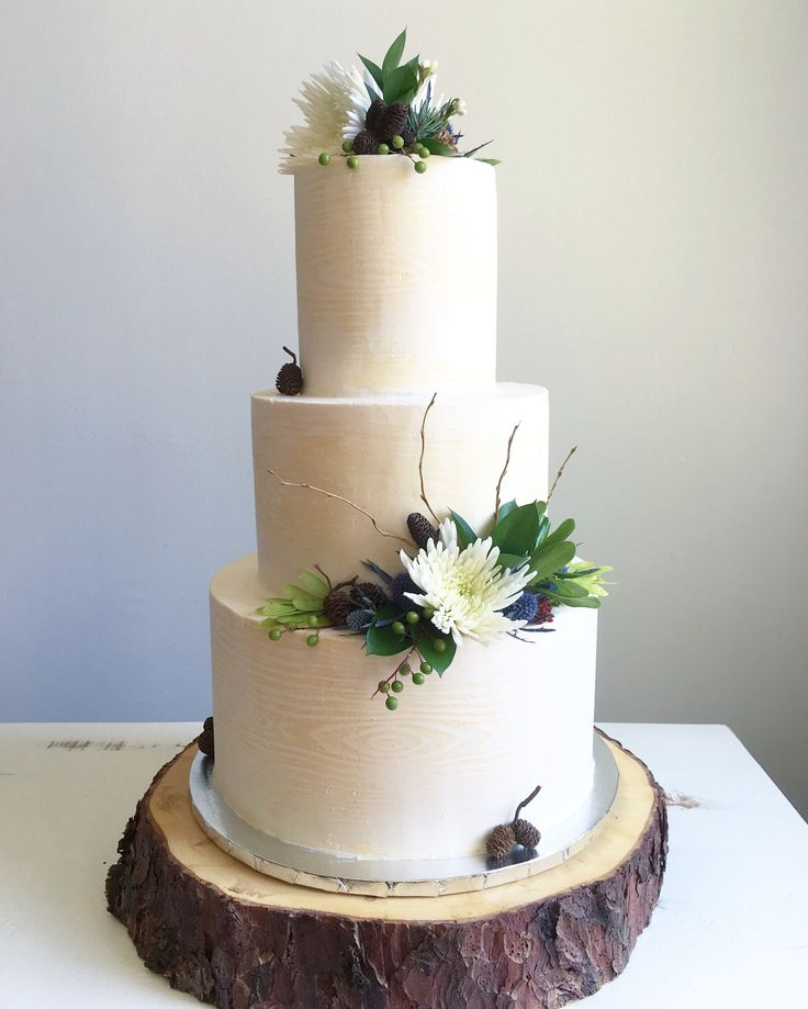 Wood grain, masculine wedding cake | Cotton-Top Pastries | Holly Wiest | Helena, MT