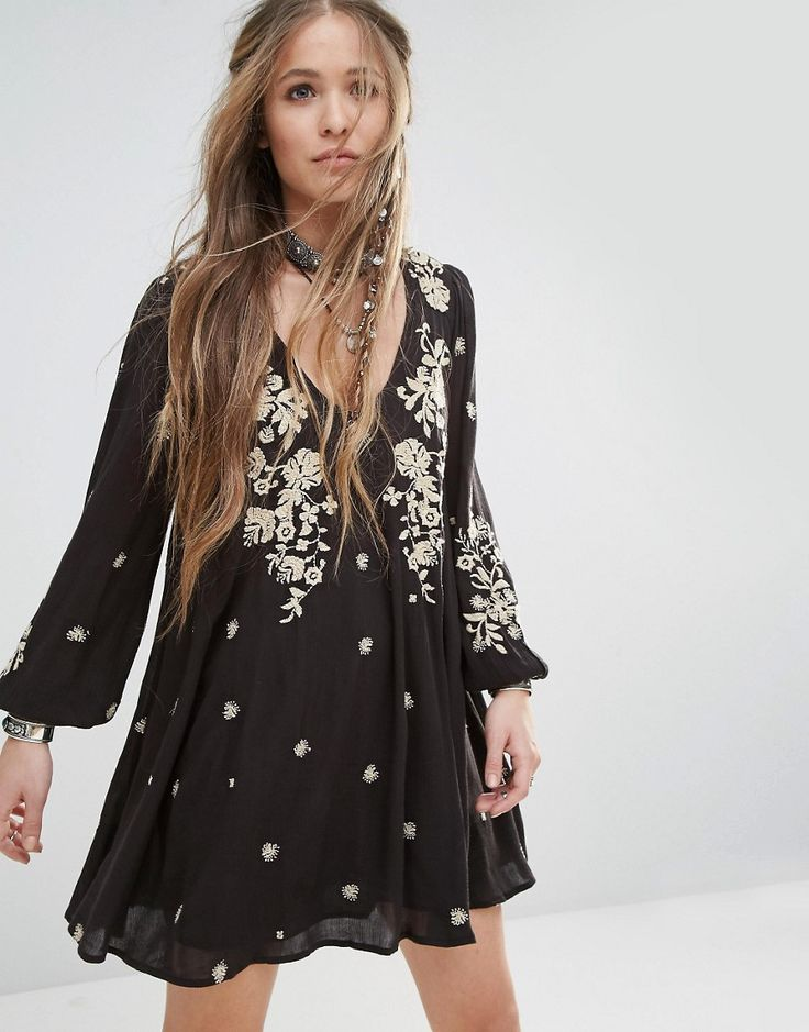 Image 1 of Free People Sweet Tennessee Embroidered Mini Dress