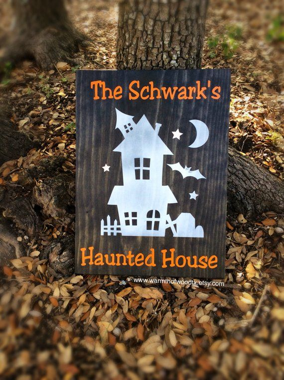 Halloween Decor, Personalized Halloween Sign, Personalized Gift