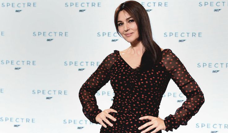 Monica Bellucci as Lucia Sciarra in Spectre (2015) the twenty-fourth James Bond film produced by Eon Productions, which features Daniel Craig in his fourth performance as James Bond. Read our Bond articles at www.whattravelwiterssay.com