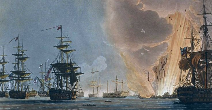 Battleships and Cannons: Admiral Nelson Crushes the French Fleet At Alexandria, Egypt.