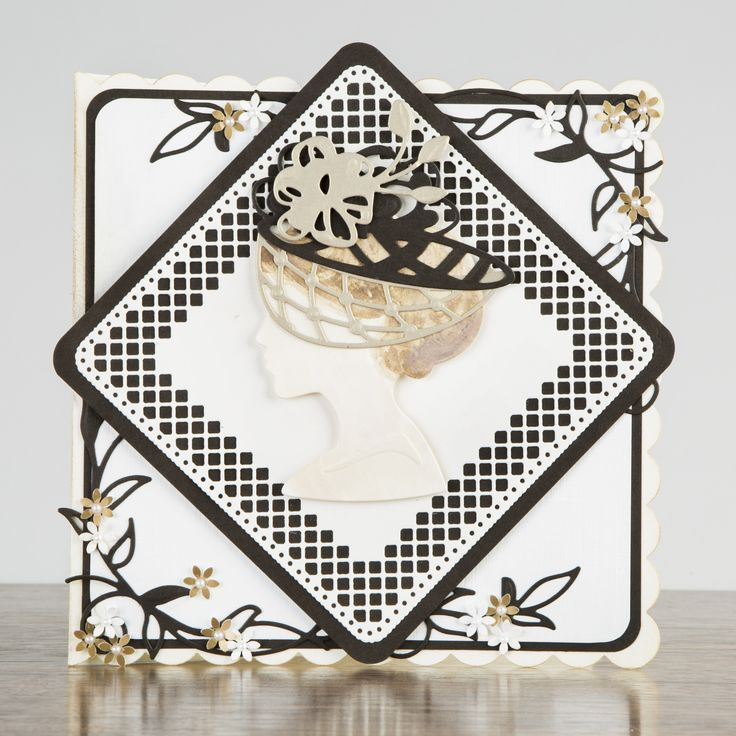 Black, gold and white card made using the Tonic Millinery Collection, available at Create and Craft! - http://www.createandcraft.tv/papercraft/brand--tonic+studios.aspx?icn=Tonic&ici=Tonic_Papercraft_Brands