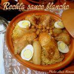 Rechta algéroise pate en sauce blanche