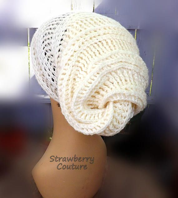 Click #strawberrycouture Ivory Crochet Hat Ivory Womens Hat Womens Slouch Beanie Crochet Slouchy Beanie Hat Ivory Hat Happy Snail Ivory Beanie Adult Hat Sizes by strawberrycouture