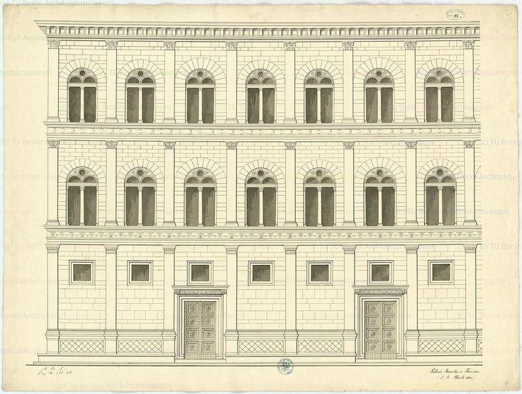 Palazzo Rucellai, diagram of the facade, Florence, 1446-51, Alberti