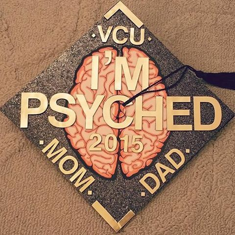 We're psyched for this soon to be alumni! | #MyVCUcap | Cap Decoration Idea