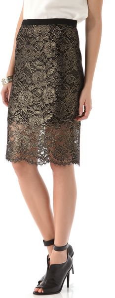 Foil Lace Pencil Skirt | nice holiday skirt ♥✤