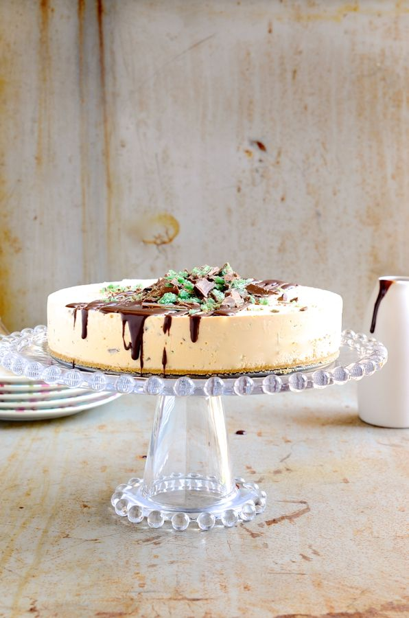 Peppermint Crisp Ice cream Pudding Cake