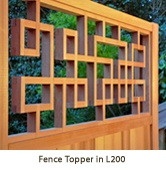 Add height, style and interest to the top of a fence. via Lattice Stix