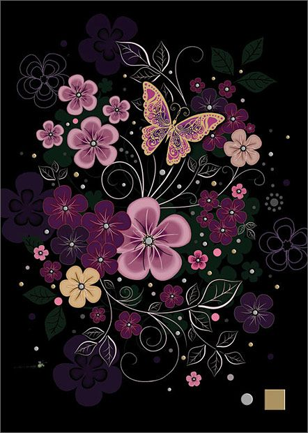 Pink Flowers - Bug Art Jewels by Jane Crowther
