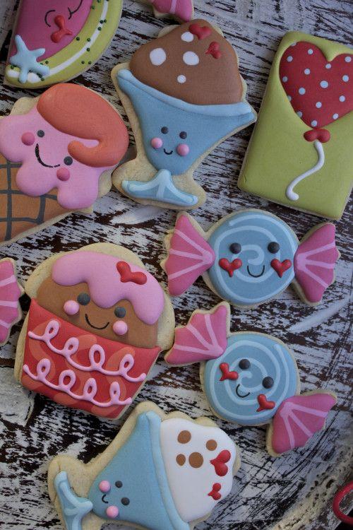 Adorables galletas para una fiesta de pijamas