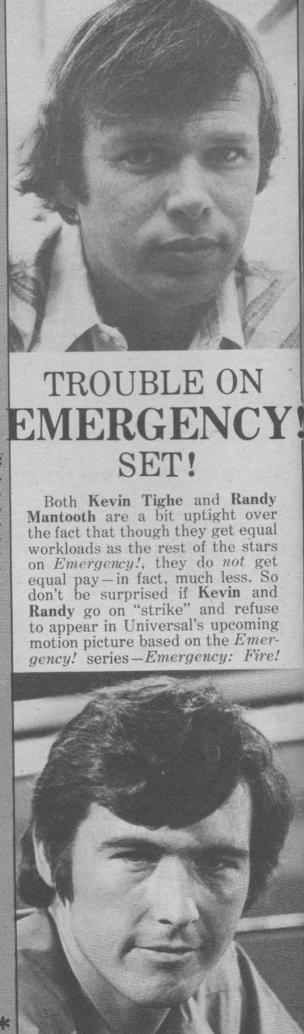 Kevin Tighe, Randolph Mantooth - 16 Magazine - April, 1974