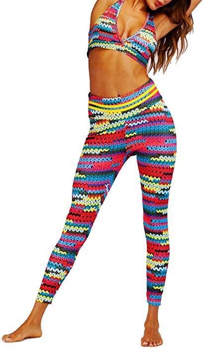 743cc6000 Huicai Women Sports Suit Yoga Sets Shirt Bra Leggings Elasticity Fitness  Suits at Amazon Women s Clothing store