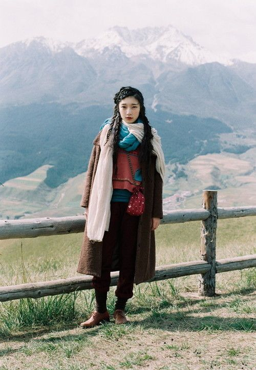YAMA GIRL. A woman of the mountains. (Also yay, trousers again!)