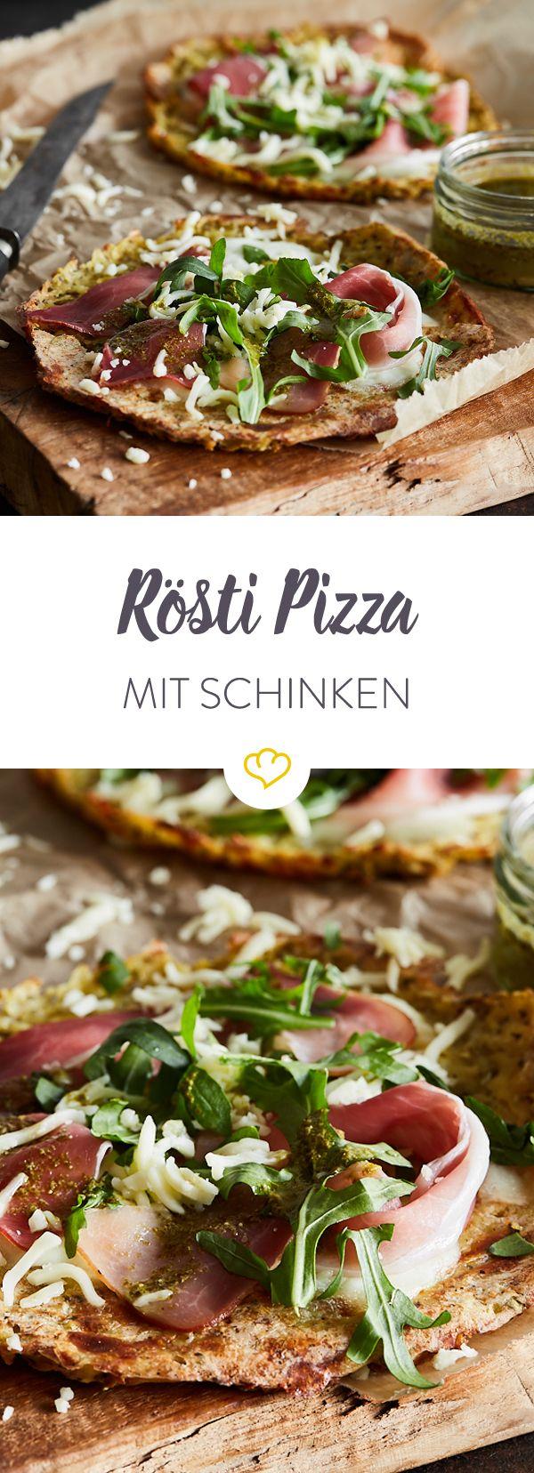 Das A und O einer richtig guten Pizza ist ihr Boden. Deiner ist heute aus geriebenen Kartoffeln - ein Rösti quasi. Klingt gut? Ist es auch!