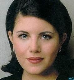 """Monica Lewinsky (b 1973) is an American woman with whom United States former President Bill Clinton admitted to having had an """"improper relationship"""" while she worked at the White House in 1995 and 1996 becoming known as the Lewinsky scandal."""