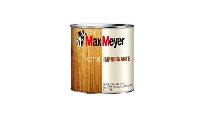 Impregnante Active per legno a solvente - MaxMeyer. Penetra nel legno e non fa film. Resistente agli agenti atmosferici. Evidenzia la venatura del legno.