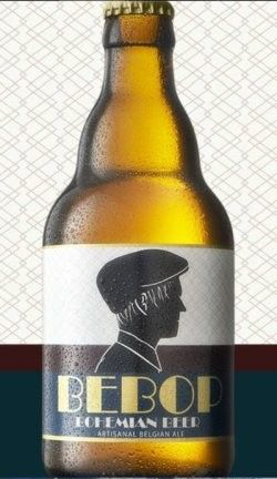 Cerveja Bebop Bohemian Beer, estilo Belgian Pale Ale, produzida por La Binchoise, Bélgica. 6.8% ABV de álcool.