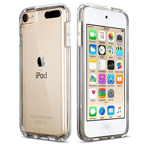 iPod Touch 5 Case , iPod 6 Case, ULAK [CLEAR SLIM] Soft TPU Bumper PC Back Hybrid Case Cover for iPod Touch 5