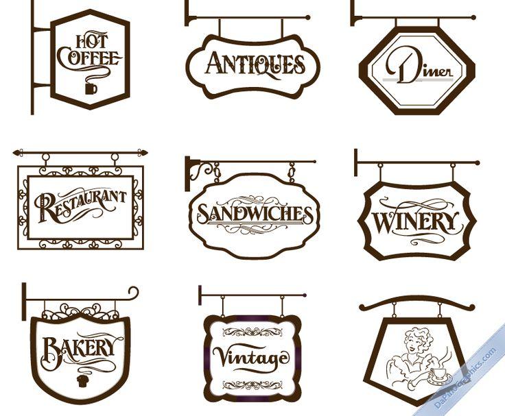 アンティークな雰囲気たっぷりのヨーロピアンな看板(アイアンサイン) デザインの要素…