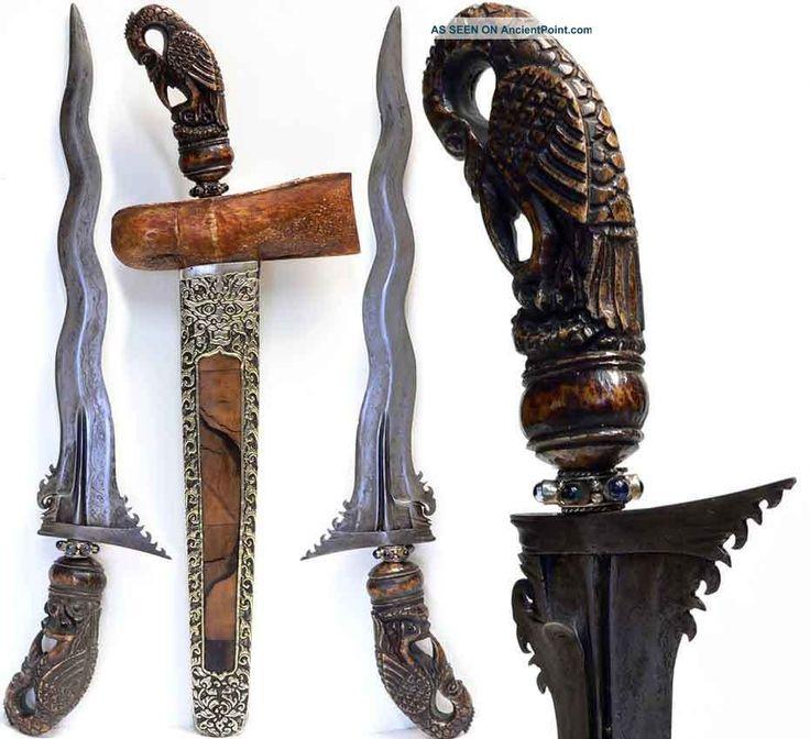 Antique 7 Luk Keris Patrem Women Kris From Bali Magic Sword Indonesia Etnography