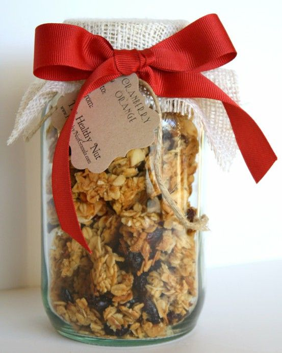 12 Homemade Gifts In A Jar ~ Amazing Sugar Scrubs, Homemade Granola, S'Mores, Chocolate Chip Oatmeal Quickbread, Sewing Kit with Pin Cushion on top, Bath Fizzies, Peppermint Stick Cocoa, Honey, Walnut & Dried-Fruit Topping, Holiday Candy Cookie Mix, Homemade Jellies & Jams, Toffee Blondie Bars, and Spiced Tea. Some of the links also provide the cute labels!