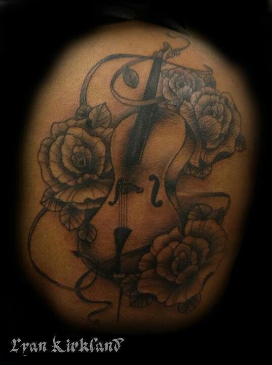 Best tattoo 2 #cello I would try something like it but not exactly like it