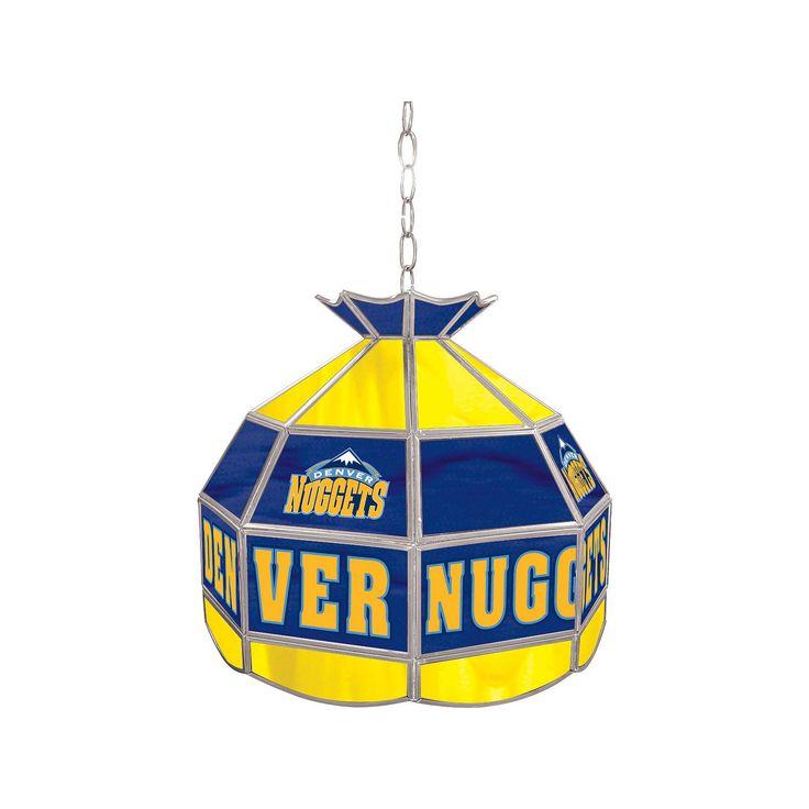 "Denver Nuggets 16"" Tiffany-Style Lamp, Multicolor"
