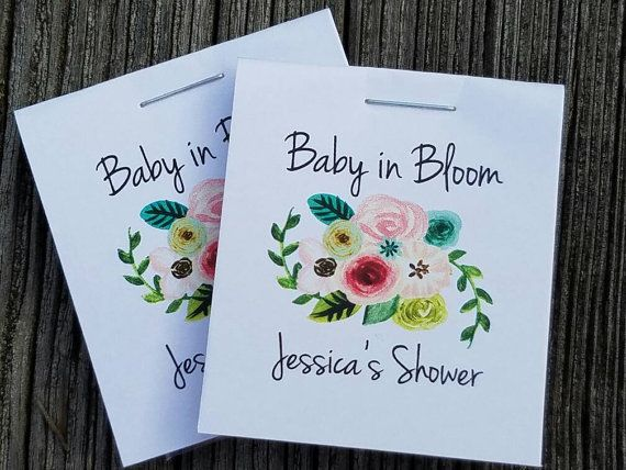 High Quality Personalized MINI Seeds Floral Bunch Baby In Bloom   Sunflowers Flower Seed  Packets Baby Shower Favors Shabby Chic Cheap