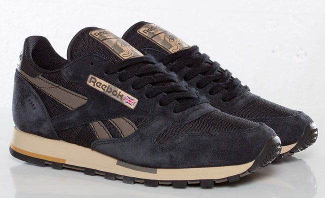 reebok classic sneakers brown leather