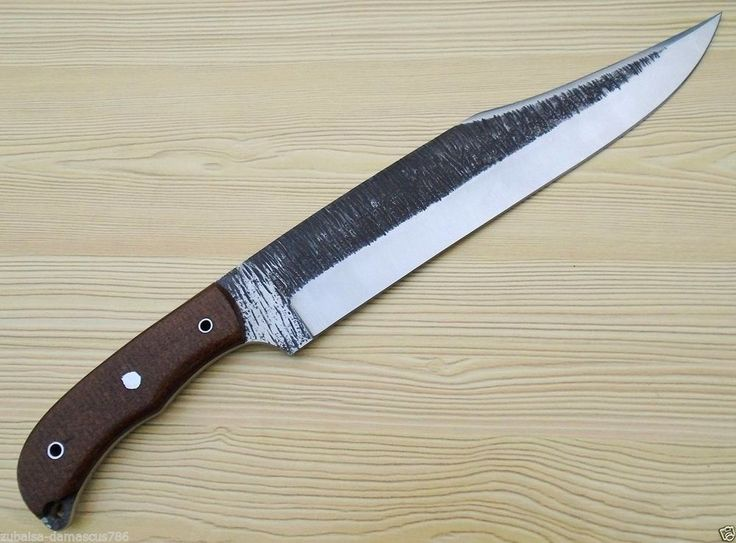 Custom Hand Made High carbon 1095 steel Full tang Bowie Knife (ZEB-5004) #ZubbaisaEnterprises