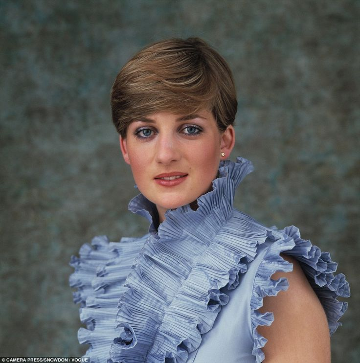 Picture of innocence: Taken in late 1980, shortly before her engagement and wedding the following year, this portrait of Lady Diana Spencer, shot for Vogue magazine, captures her youth and vitality, as well as the startling blue eyes that melted Prince Charles's heart… and the nation's