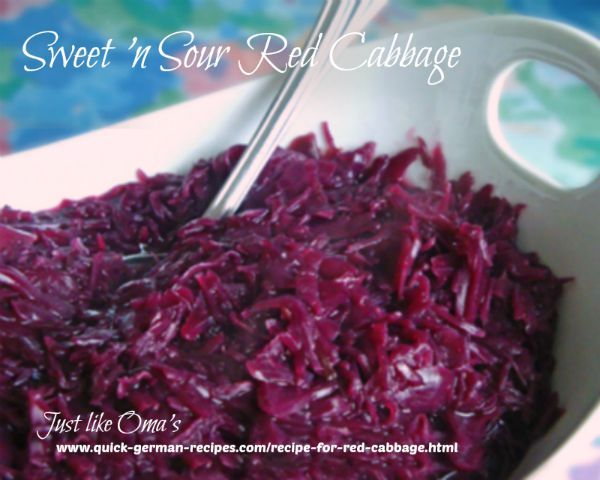 Yummy German Red Cabbage ... so traditionally delicious http://www.quick-german-recipes.com/recipe-for-red-cabbage.html