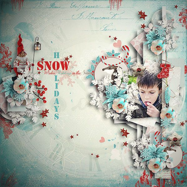 Winters Holidays by Manue Designs template Thankful for... by Tinci Designs