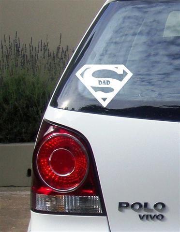 Super Mom / Dad Vinyl Vehicle Stickers