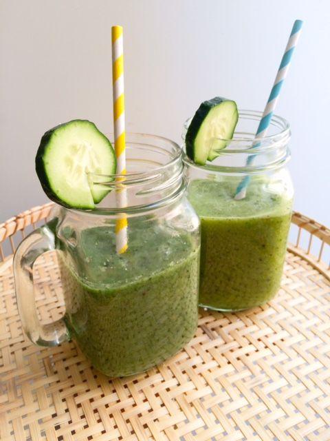 Smoothie détox à la spiruline | The Wellness Nutritionista