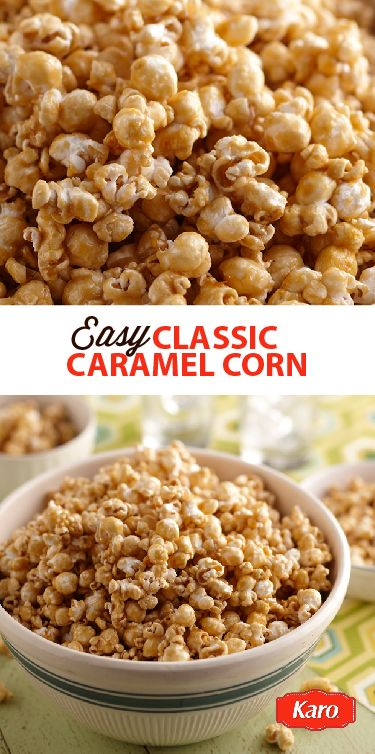 Gear up for the big game with this easy recipe for homemade Classic Caramel Corn. It's a simple to make, sweet and salty snack. Add 1 cup of peanuts or your favorite nuts for a little extra crunch.