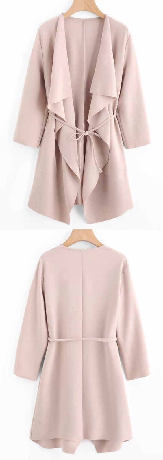 Up to 68% OFF! Front Pockets Draped Coat. #Zaful #coats Zaful,zaful outfits, zaful sweaters, fashion, style, tops, outfits, blouses, sweatshirts, hoodies, hoodies outfit , jackets, coats, cardigan, sweater, cute sweatshirts, floral hoodie, cropped hoodies, fall, winter, winter outfits, winter fashion, fall fashion, fall outfits, christmas, ugly, ugly christmas, thanksgiving, gift, christmas hoodies, black friday, cyber monday @zaful Extra 10% OFF Code:ZF2017