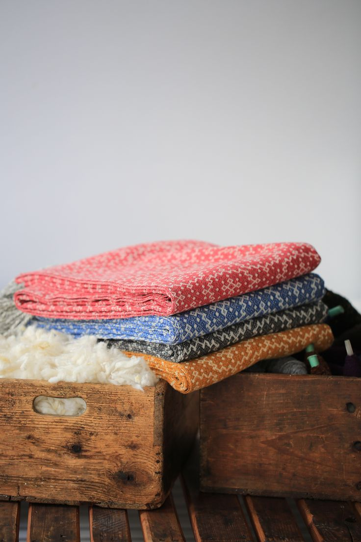 Blankets in pure wool, 100% sustainable and biological.
