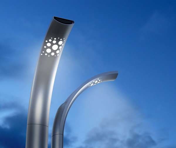 The Deco #LED #Streetlamp Casts a Diffuse Glow on the #Road Below