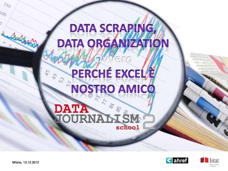 data-scraping-data-organization by Marco Montanari via Slideshare