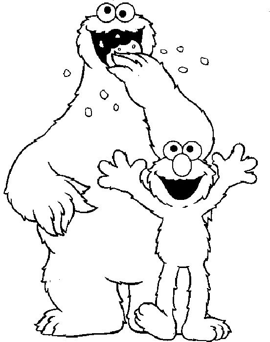 20 best elmo coloring pages images on pinterest elmo for Elmo and cookie monster coloring pages to print
