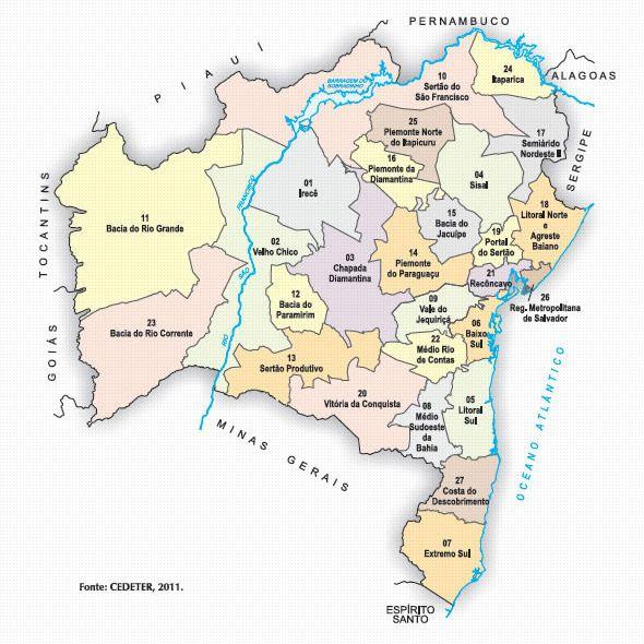 MAPA | SEPLAN BA - Secretaria do Planejamento do Estado da Bahia