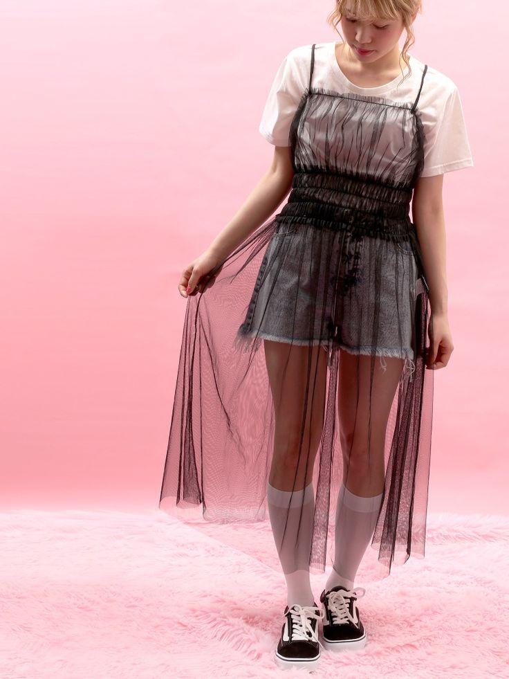 WC(ダブルシー)のWC/チュールワンピースセットTシャツ。渋谷109の人気ブランド/ショップの最新レディースファッションや新作、人気、おすすめアイテムをお届け。お得なイベント情報も