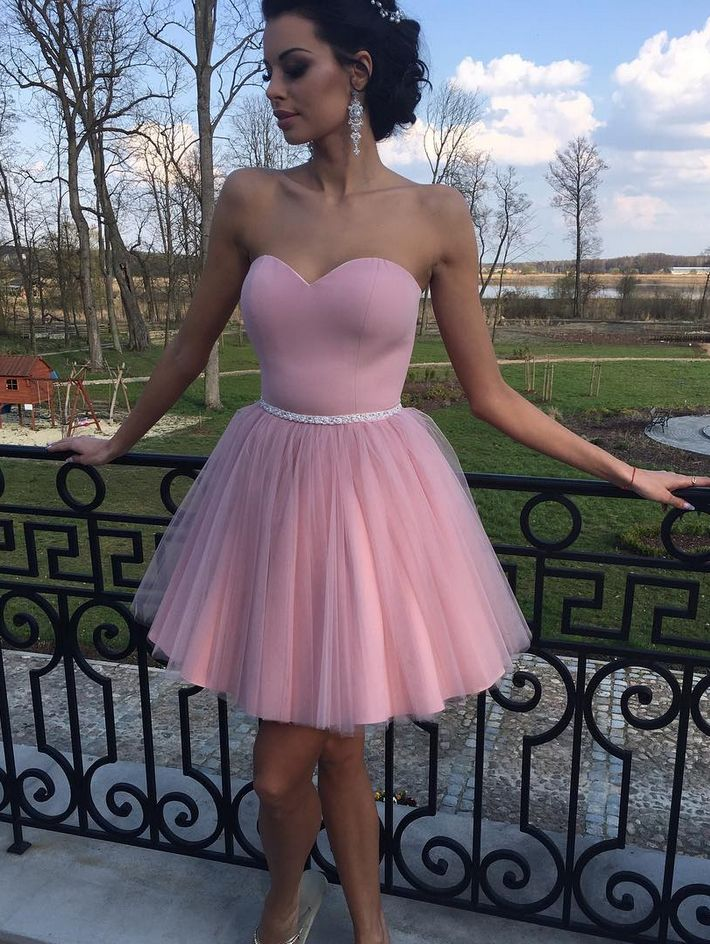 A Line Homecoming Dress, Junior Party Dress,